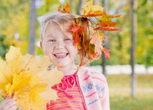 girl in autumn park Royalty Free Stock Photo