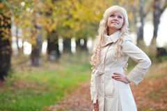The girl in autumn park Royalty Free Stock Photo