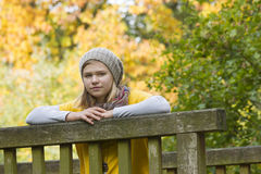 A girl in the autumn park Royalty Free Stock Image