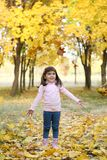 Girl in autumn park. Stock Photo