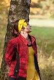 Girl at autumn park Royalty Free Stock Photo