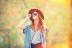 Girl in the autumn park. Stock Photography