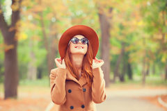 Girl in the autumn park. Royalty Free Stock Photo