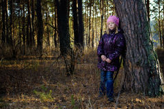 The girl in an autumn wood Stock Photo