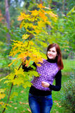 Girl in autumn Royalty Free Stock Photo