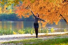 Girl in autumn Stock Photo