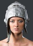 Girl aviatrix Stock Image