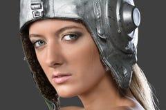 Girl aviatrix Royalty Free Stock Photography