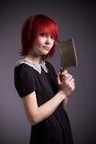 Girl with an ax Stock Photos