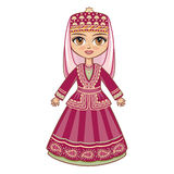 The girl in the Azerbaijanian suit. Stock Images