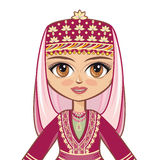 The girl in the Azerbaijanian suit. Historical clothes .Portrait, avatar Royalty Free Stock Photography