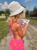 Girl. Baby beach Stock Image