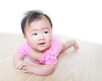 Girl baby face look to empty copy space Stock Images