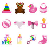 Girl baby object Stock Photos
