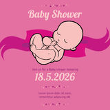Girl baby shower card Stock Photo