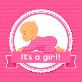 It is a girl. Baby shower invitation Royalty Free Stock Photos