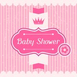 Girl baby shower invitation card Stock Photos