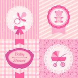 Girl baby shower invitation cards Stock Images