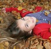 Girl on back stock image