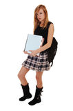 Girl with back bag. Stock Photography