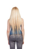 Girl back with long hair stock image