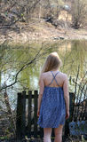 Girl back Royalty Free Stock Photography