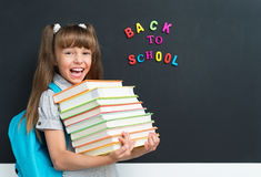 Girl back to school Royalty Free Stock Photo