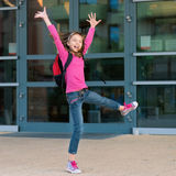 Girl back to school Stock Photography