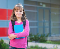 Girl back to school Stock Images