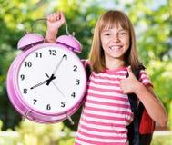 Girl back to school Stock Photos