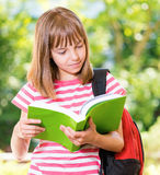 Girl back to school Royalty Free Stock Photography