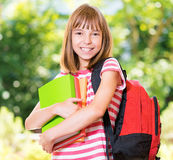 Girl back to school Stock Photo