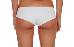 Girl back in white underwear Royalty Free Stock Photos