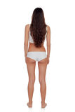 Girl back in white underwear Stock Photos