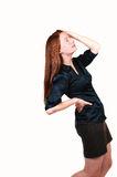 Girl with backache. Royalty Free Stock Image