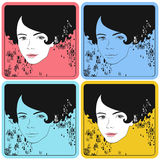 Girl background Royalty Free Stock Images