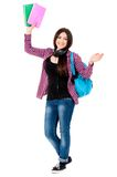 Girl with backpack Stock Photo