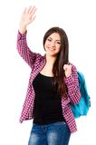 Girl with backpack Royalty Free Stock Photography