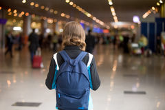 Girl with backpack Royalty Free Stock Photo