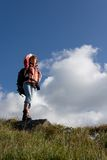 Girl backpacker. Stock Photo