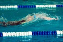 Girl backstroke Stock Photo