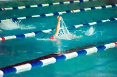 Girl backstroke Stock Photos