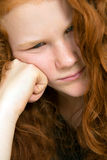 Girl in bad temper Royalty Free Stock Images
