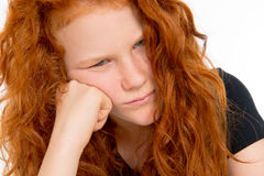 Girl in bad temper Stock Images