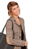 Girl with bag Royalty Free Stock Image