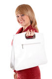 Girl with bag Stock Photos