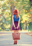 Girl with bag Royalty Free Stock Photos