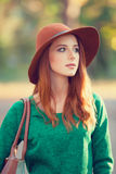 Girl with bag Royalty Free Stock Photography