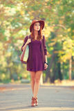 Girl with bag Royalty Free Stock Images