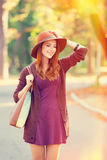 Girl with bag Stock Image